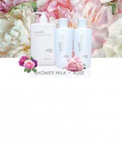 Sữa tắm dưỡng ẩm, sáng da - Hoa hồng