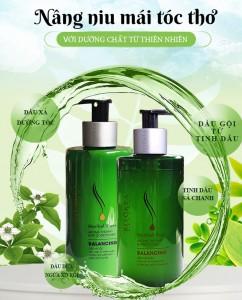Bộ dầu gội, dầu xả chăm sóc tóc từ tinh dầu Herbal Pure